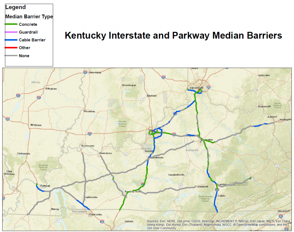 Median Barrier Map